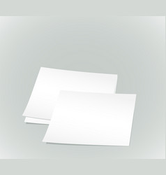 White paper sheets vector