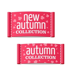 New autumn collection clothing labels vector