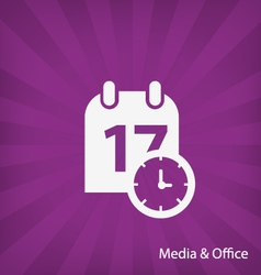 Office Media icon vector image