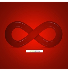 Abstract infinity symbol on red background vector