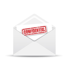 Confidential white envelope vector