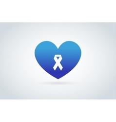 Stop cancer medical logo icons concept vector