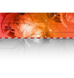 tech background in the red color vector image