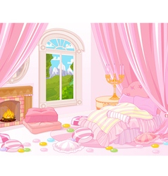Sweet bedroom vector