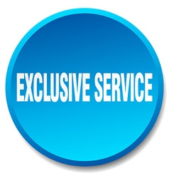 Exclusive service blue round flat isolated push vector