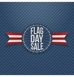 Flag day sale patriotic emblem with text vector