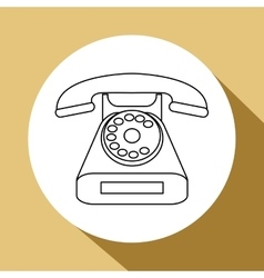 Phone design retro icon flat vector