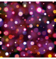 Abstract dark background with bokeh lights vector