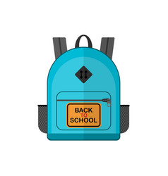back to school blue backpack vector image