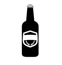 black bottle of beer icon design vector image vector image