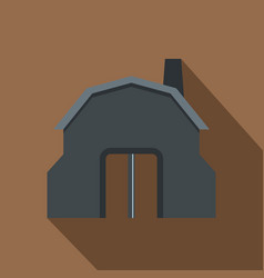 Blacksmith workshop building icon flat style vector