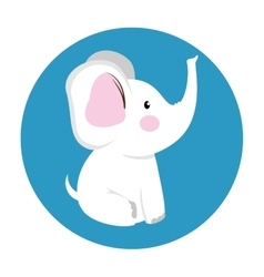 Cute elephant baby icon vector