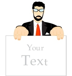 Man with poster vector