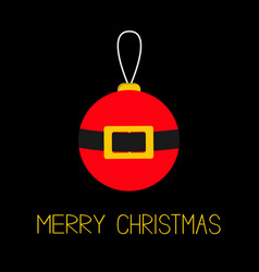 merry christmas ball toy hanging tree decoration vector image vector image