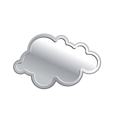 Metallic cloud Iron sky on a white background vector image vector image