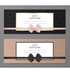 Modern gift voucher template set with vector