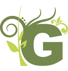 nature G vector image vector image