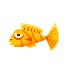 Orange stripy phlegmatic fantastic aquarium vector
