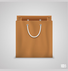 paper bag for shopping vector image vector image
