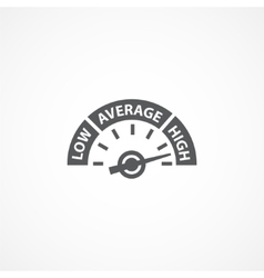 Rating meter icon vector