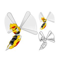 Robot Wasp vector image