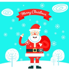 Santa Bag vector image