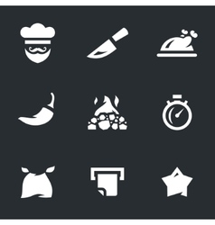 Set of chef cooking vector