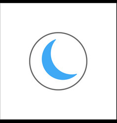 Sleep mode solid icon mobile sign and new moon vector