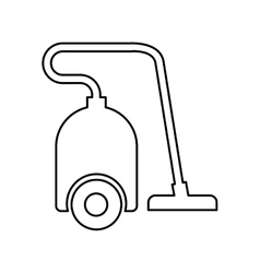 Vacuum appliance isolated icon vector