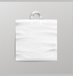White empty reusable plastic shopping bag with vector