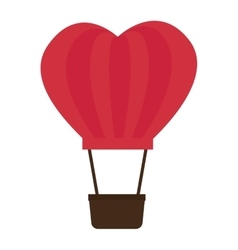 Balloon love romantic emotions design vector