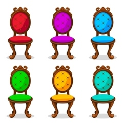 Cartoon colorful retro chair vector