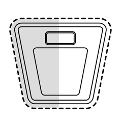 Weight scale device icon vector
