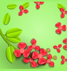 paper cut orchid-04 vector image