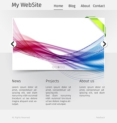 Website design template - grayscale version vector image