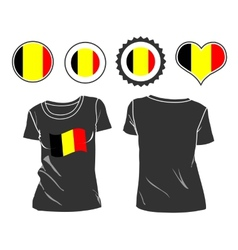 T-shirt with the flag of belgium vector