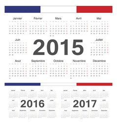 French rcircle calendars 2015 2016 2017 vector