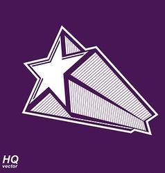 Celestial object pentagonal comet star gra vector