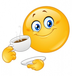 coffee emoticon vector image