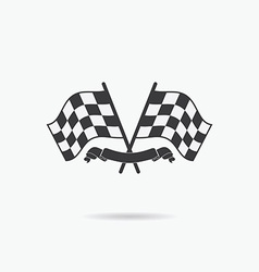 Flag icon checkered or racing flags and finish vector