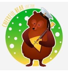 Sailor bear plays on the balalaika vector