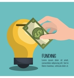 Funding and investment design vector
