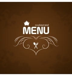 Restaurant menu on brown background vector