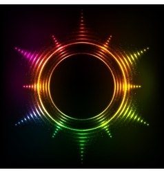 Abstract rainbow neon spirals cosmic star vector