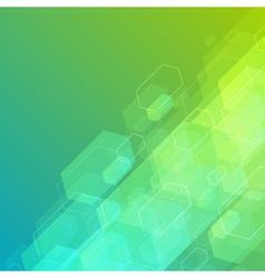 Abstract technology futuristic hexagon lines backg vector