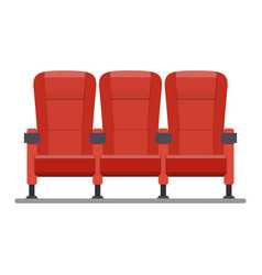 Auditorium and seats in a movie theater vector