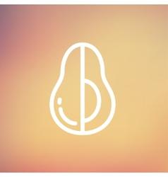 Avocado thin line icon vector