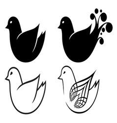 Bird simple resize vector