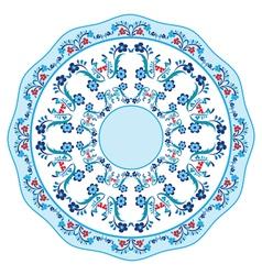Blue oriental ottoman design eighteen vector