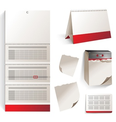calendars set vector image vector image